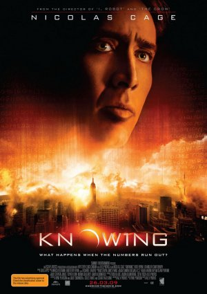 Knowing is a 2009 American-British science fiction disaster film directed by Alex Proyas and starring Nicolas Cage. In 1959, student Lucinda Embry hears whispers as she stares at the sun. Later, she writes a page of seemingly random numbers and adds it to her school's time capsule, set to be opened in 50 years.