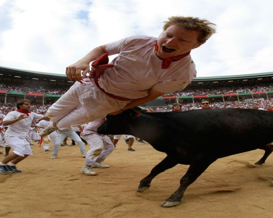 It is used for bull fighting. The stadium holds 19,720 people. It was built in 1922. It is the ending point of the famous Running of the Bulls during the festival of San Fermín.